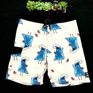 Men's Billabong Party Wave Board Shorts Size 34